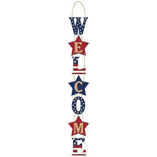 "Amscan Americana Welcome Sign, 27"" x 3"", Multicolor"
