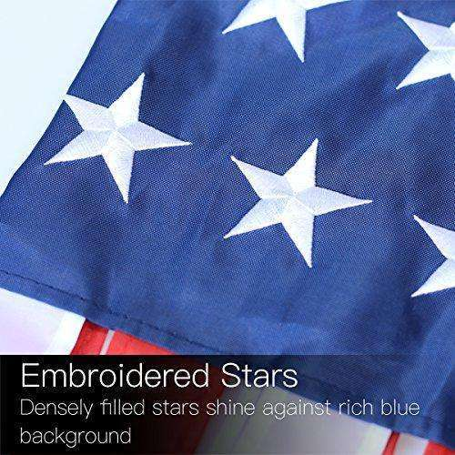 Anley 40 Inch American US Flag Windsock, Stars & Stripes USA Patriotic Decorations - Embroidered Stars and Fade Resistant - 3.3 Feet