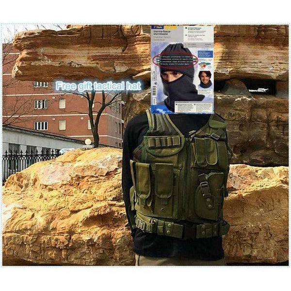 Army Combat Tactical Vest Military Protective Airsoft Camouflage Molle Vest CS clip Vests Clothes Accessories