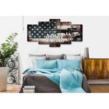 Army Strong Quote on American Flag with Soldiers  - Army Rangers- Military Art- Navy Seals- Army Wall Decor- US Marines-