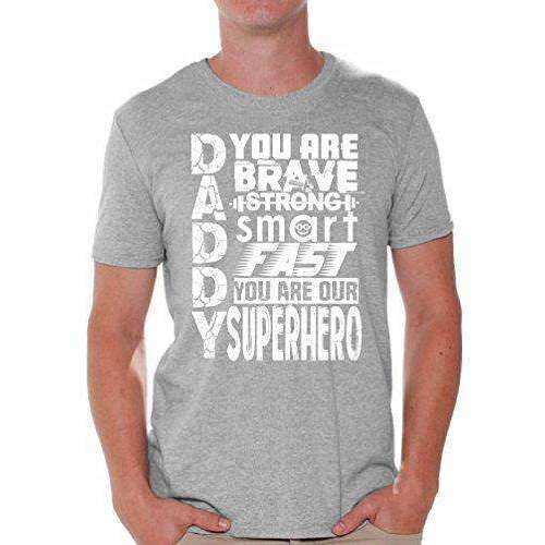 Awkwardstyles Daddy Superhero T-Shirt White Father's Day Gift Shirt + Bookmark