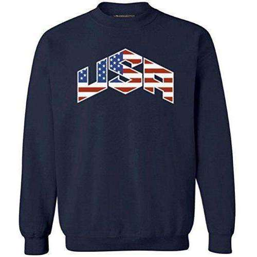 Awkwardstyles USA Flag Crewneck 4th July Independence Day Sweatshirt + Bookmark