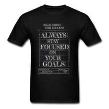 Blueprint For Success T-shirt Men T Shirts Labor Day Tops Geek TShirts Short Sleeve High Quality 100% Cotton Top Clothes Black