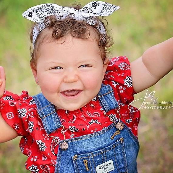 Bow Headband Baby Toddler Pre-tied Headscarf American Flag Fourth of July Memorial Day 4th of July Photo Prop Newborn Infant Baby Gift #032