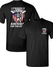 City Shirts I Proudly Stand For The Flag Kneel For The Cross Front Back DT Adult T-Shirt Tee