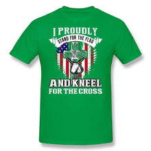 City Shirts Mens I Proudly Stand for Flag Kneel for Cross DT Adult T-Shirt Tee