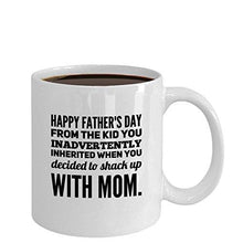Comcl coffeemug Coffee Mug/Gift/Stepdad Shacking up with My Mom Best Dad Ever Mug/1st Day/Funny Father, 11OZ