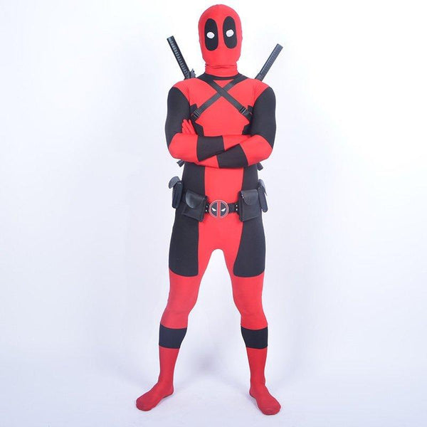 Cool KIds Deadpool Costume Red full body spandex Boy Deadpool Cosplay Costumes  halloween deadpool costume wholesale For Kids
