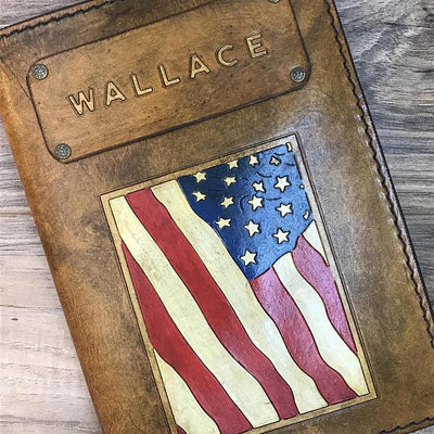 Custom Leather Journal, Leather Notebook, Leather Journal Cover, Military Journal, Military Notebook, Military Gift, Personalized Journal