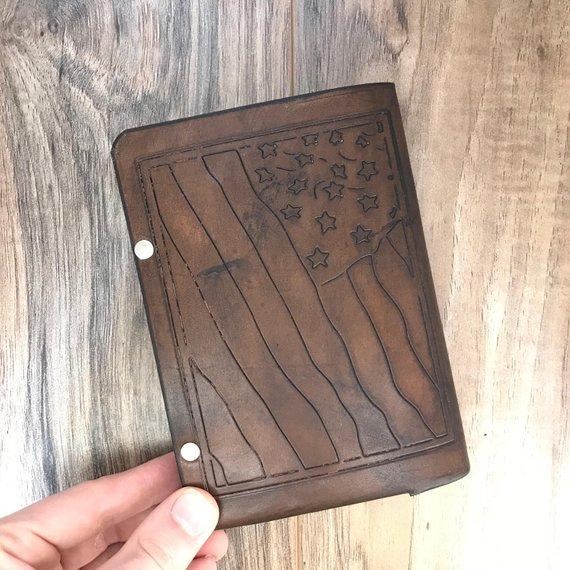 Custom Leather Journal, Pocket Size Journal, Customize your own Journal, Handmade Leather Journal, Christian Notebook, Christian Gift