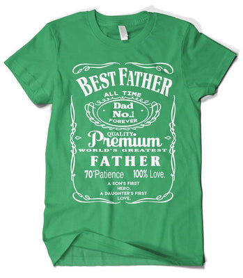 Cybertela Men's Best Father Premium Dad World's Greatest No.1 T-Shirt