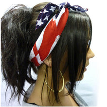Cycle zone Women Headbands American Stars and Stripes USA Flag Bandana Hair Band 51x51cm