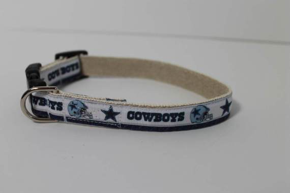 Dallas Cowboys hemp dog collar or leash