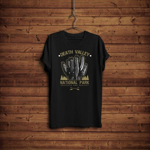 Death Valley National Park Shirt, Death Valley Cactus T-shirt, Camping Gift, USA Vintage Mountains Hiking Shirt, National Park Travel Gift