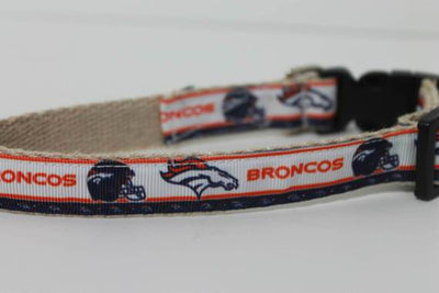 Denver Broncos hemp dog collar or leash