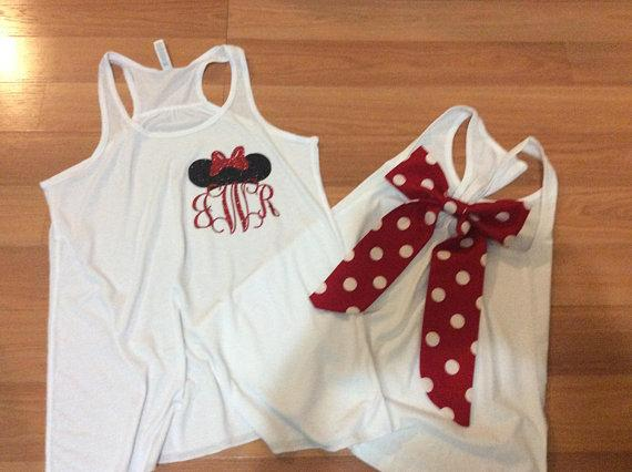 Disney Shirt/Labor Day Minnie Mouse/monogram/disney group shirts /Disney apparel/ custom disney shirts/ matching shirts