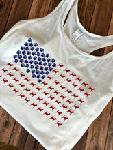 Dog American Flag Tank Top