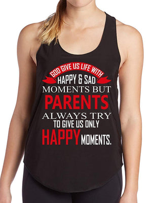Doryti Spacial Parents Day T-Shirt 2018 Birthday Gift Funny Women's Tank - top tee