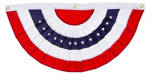 Evergreen Flag Medium Pleated Patriotic American Flag Bunting - 4.8' x 2.4'