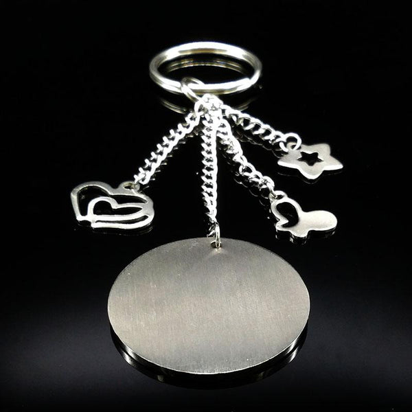 Family Silver Color Stainless Steel Keychain For Women Love in The Parents Children Key Chain Jewelry Mother's Day Gift  K73220