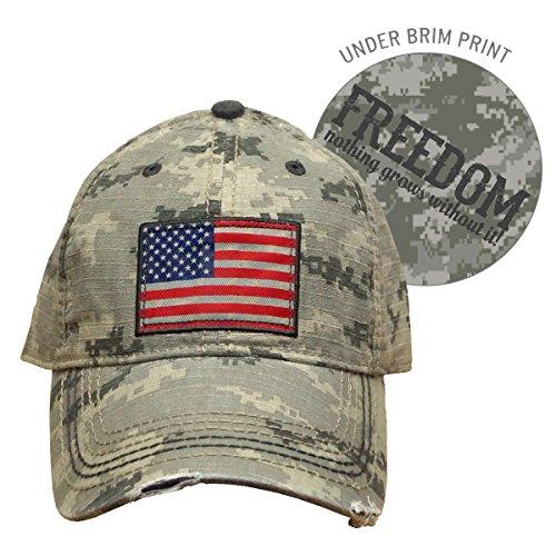 Farm Boy Digital Camo with American Flag Patch Velcro Hat - F13080708CA000