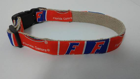Florida Gators hemp dog collar or leash