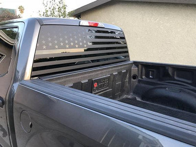 Ford F150 American Flag Decal - Offroad Merica Banners Vinyl Stickers Custom Accessories Design Rear Window F-150  Flags USA