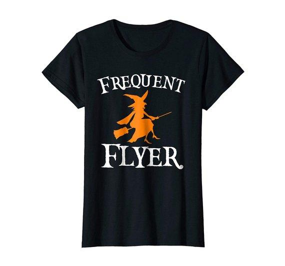 Frequent Flyer T-Shirt Perfect Halloween Tee
