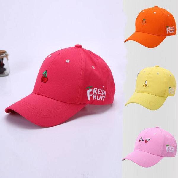 FRESH FRUIT Printing baseball cap woman 2017 Summer Women Fruit Embroidered ccasquette femme Hat Adjustable Cap