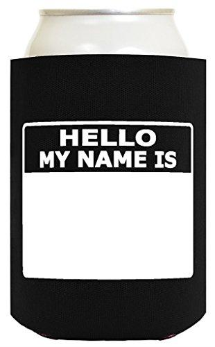 Funny Can Coolie Hello, My Name Is Funny Badge and Permanent Marker 12 Pack Can Drink Coolers Coolies Multi