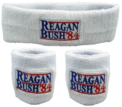 Patriotic America Unisex Sweatband Set (3-Pack: 1 Headband & 2 Wristbands)