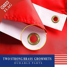 G128 USMC Double Sided 2ply Embroidered Heavy Duty Brass Grommets 210D Quality Oxford Nylon U.S. Marine Corps Military Flag, (3 x 5-Feet)