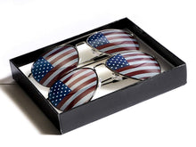 Goson American Flag Mirror Aviator Novelty Decorative Sunglasses