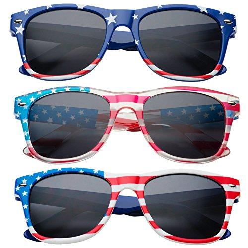 grinderPUNCH Kids American USA Flag Sunglasses for Boys and Girls Ages 3-10