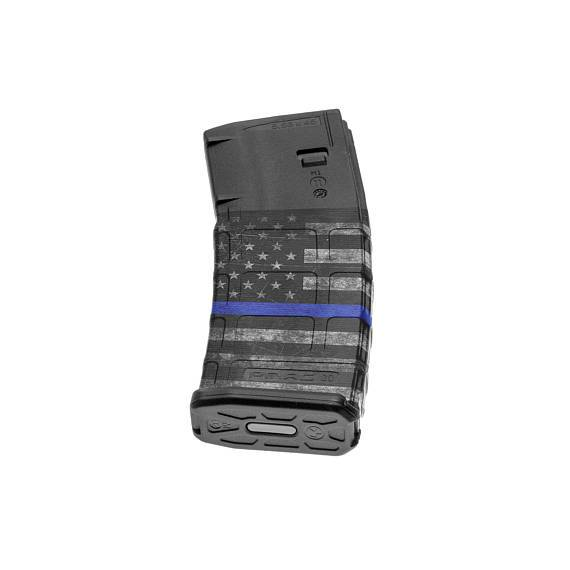 GunSkins AR-15 Mag Skin Specialty Wrap - 3 Pack (Thin Blue Line)