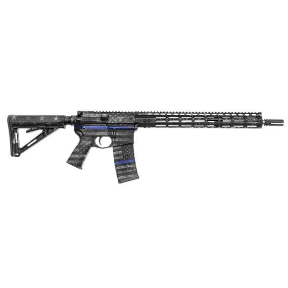 GunSkins AR-15 Rifle Skin Specialty Gun Wrap (Thin Blue Line)