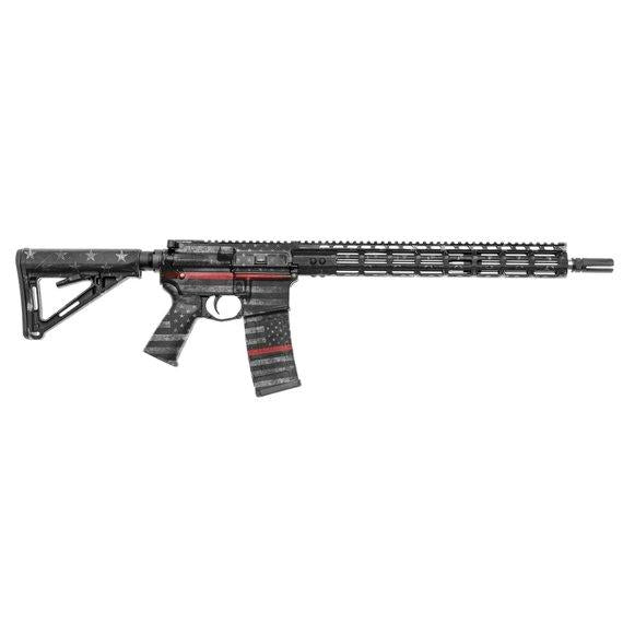 GunSkins AR-15 Rifle Skin Specialty Gun Wrap (Thin Red Line)