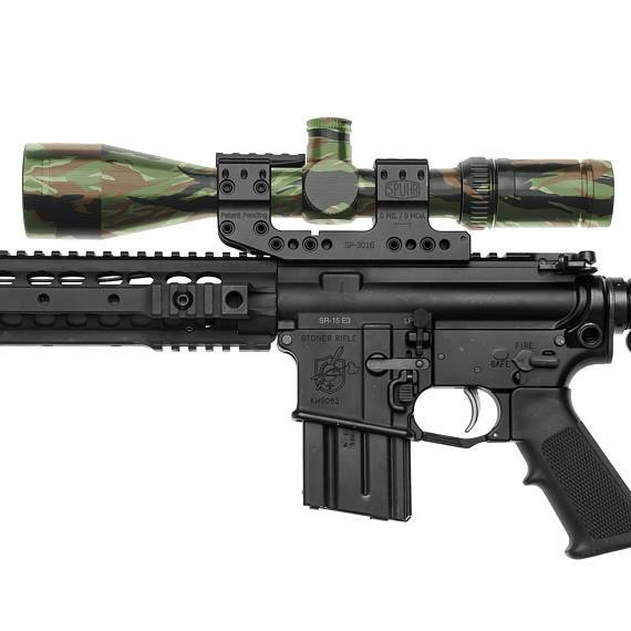 GunSkins Scope Skin Camouflage Optic Wrap (Vietnam Tiger Stripe)