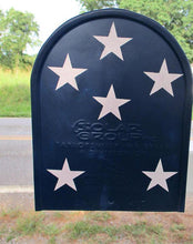 Hand Painted,American Flag,Standard Size Metal Mail Box,Red,White,Blue