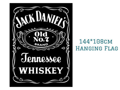 Happy Hour 90*150cm 60*90cm 144*108cm Jack Daniels Whiskey Bar Party Flag Decoration Digital Printing Buckle