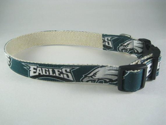 Hemp dog collar - Philadelphia Eagles
