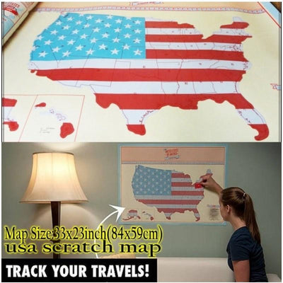 HOT usa scratch map Of American Country Map Packed in Card Tube scratch off map travel Vacation Traveler Log Gift Free shipping