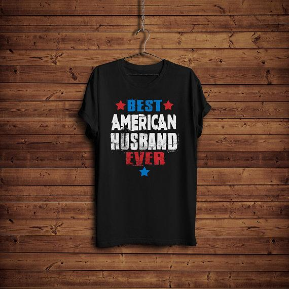 Husband Gift Shirt Best American Hubby Easter