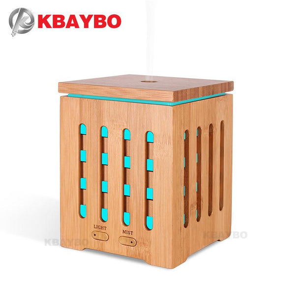 KBAYBO 200ml Essential Oil Diffuser Ultrasonic Aroma therapy Diffusers with 7 LED Colorful Lights and Waterless Auto Shut