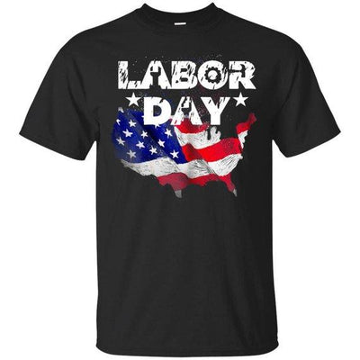 Labor Day With America Flag Men's T-Shirt