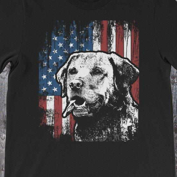 Labrador Retriever American Flag Shirt / 4th of July Labrador Retriever Shirt / Labrador Retriever Gifts / Labrador Retriever Shirts