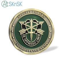 Latest retro coin bronze plated Skull crafts Green Beret metal coin collectible Special Forces Unite States Army challenge coins
