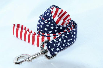 LEASH - Glory American Flag 4th of July Leash Lead
