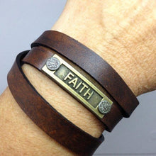 Leather Eternity Band, Leather Bracelet, Faith Bracelet, Christian Jewelry, Christian Gift, LDS Gift, Handmade Leather Band, Women's Gift