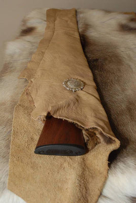 Leather Gun Cases, Rifle Case, Hunting Gun Case, Handmade Gun Case,Fringed Gun Case, Long Gun Case, Silver Concho